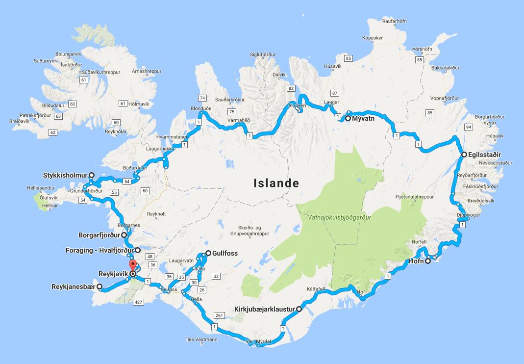 circuit camping-car en islande
