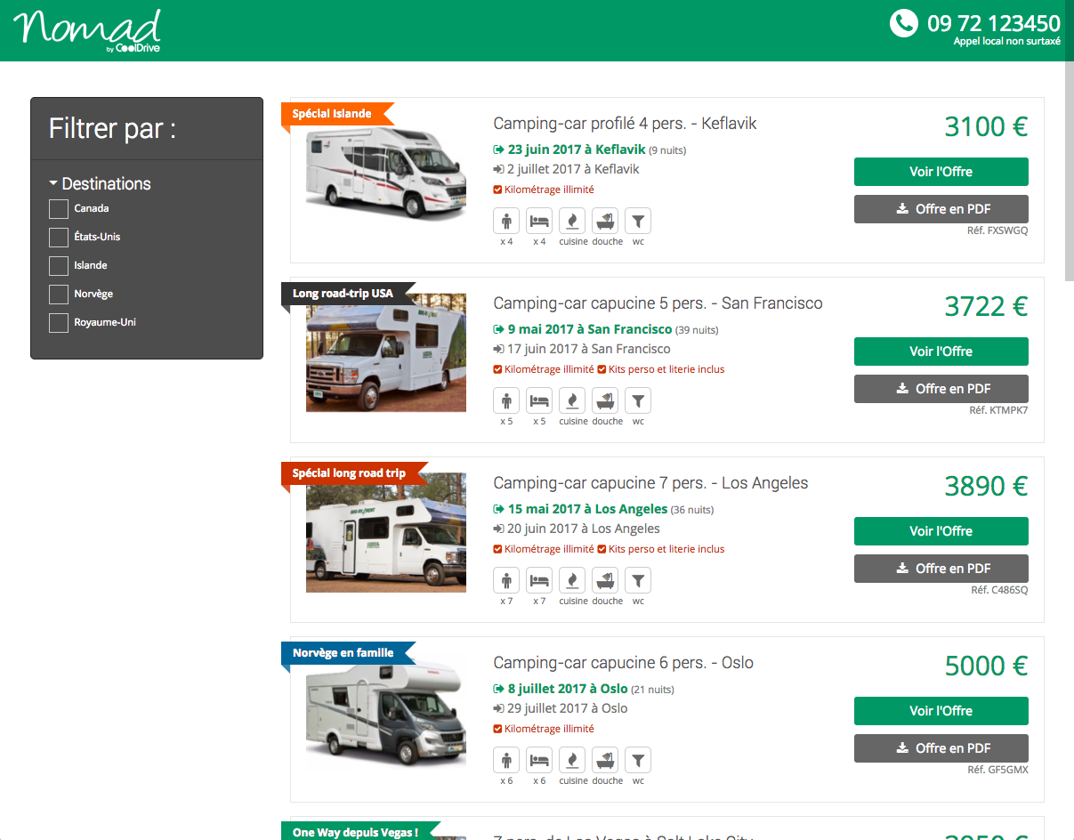 Nouveau site de promotions le blog des nomads for Site de location